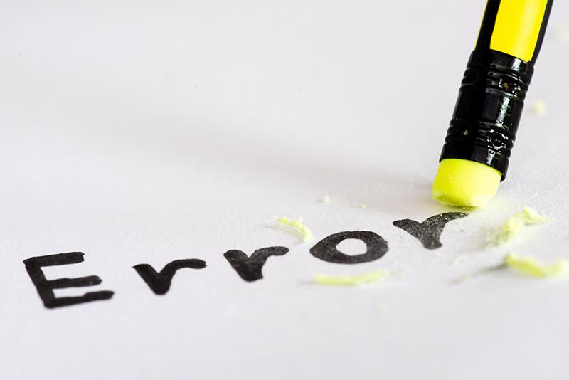 Eliminar los errores que han pasado