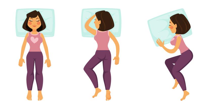 Cómo dormir para bajar de peso: Postura horizontal, postura boca abajo y postura fetal