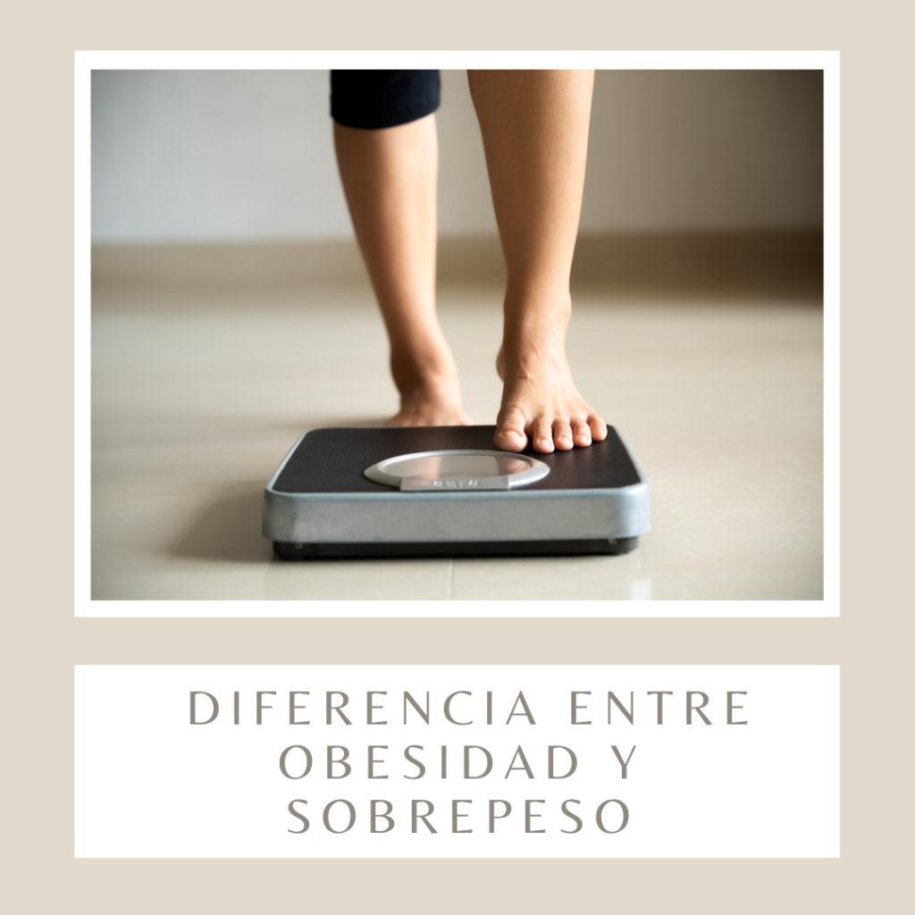 Diferencia entre obesidad y sobrepeso