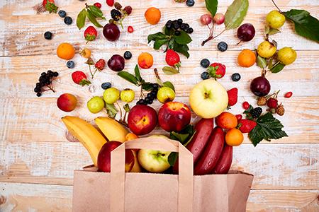 Fruta para hacer snacks saludables