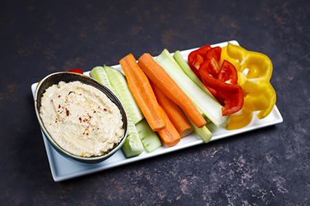 humus zanahoria, un snack saludable