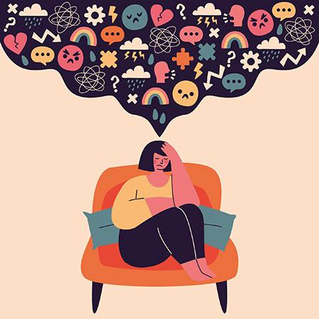 ilustración de una mujer con trastorno límite de personalidad