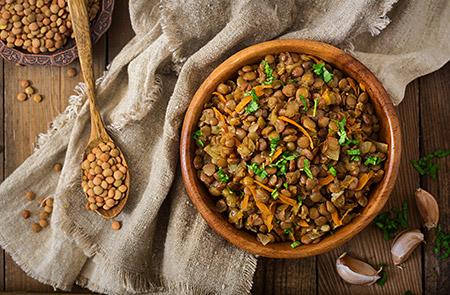 plato con legumbres