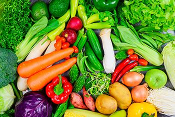 frutas y verduras fundamentales en el plato harvard