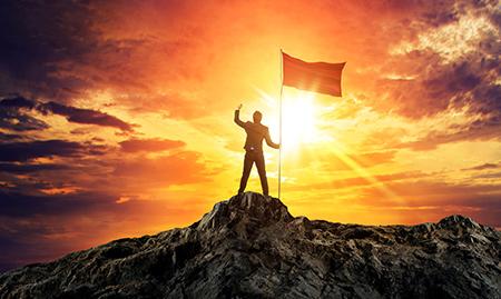 persona exitosa a causa de la resiliencia